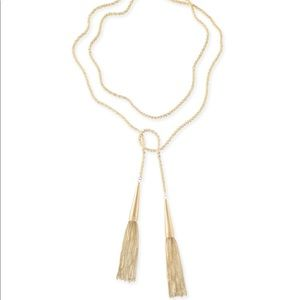 NWT Kendra Scott Phara Necklace in Gold